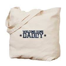 Welcome Home NAVY Daddy Tote Bag