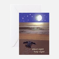 SILENT NIGHT SEA TURTLE CHRISTMAS Greeting Cards (