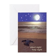 SILENT NIGHT SEA TURTLE CHRISTMAS Greeting Card