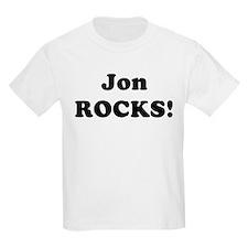 Jon Rocks! Kids T-Shirt