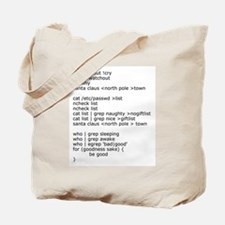 Unix Santa Tote Bag