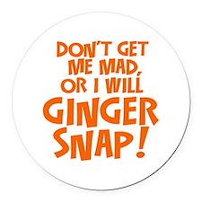 Ginger Snap Round Car Magnet