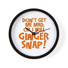 Ginger Snap Wall Clock