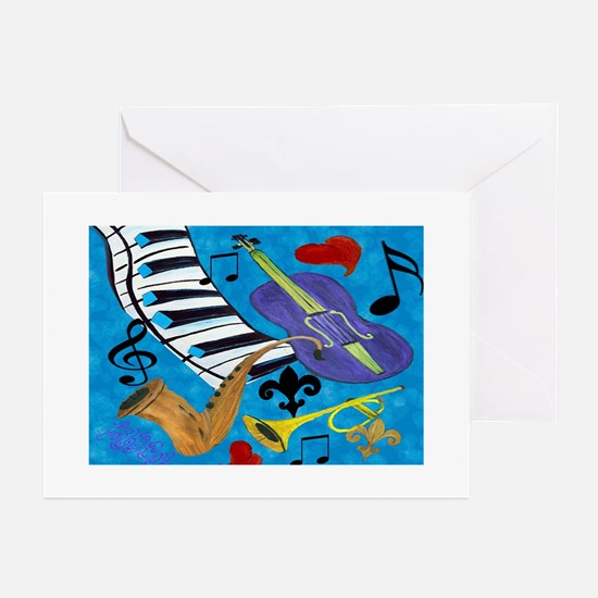 Jazz Art Greeting Cards