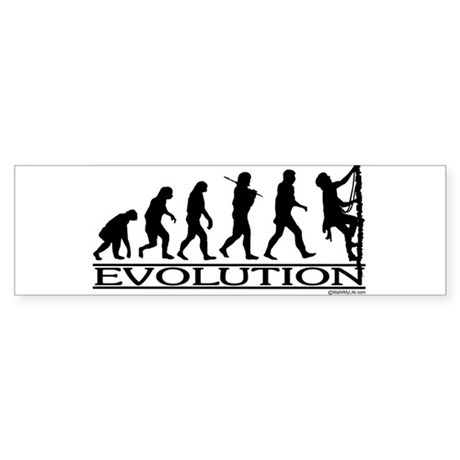 Evolution (Climbing) Bumper Sticker