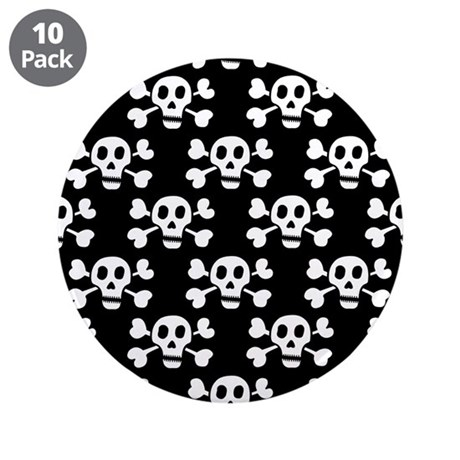 "'Crossbones' 3.5"" Button (10 pack)"