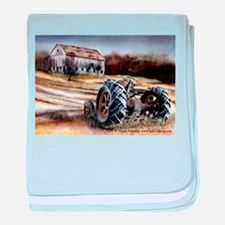 Old Tractor baby blanket