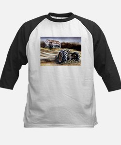 Old Tractor Kids Baseball Jersey