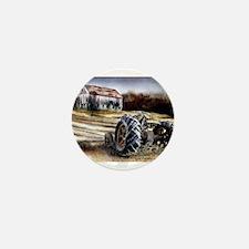 Old Tractor Mini Button