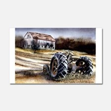 Old Tractor Car Magnet 20 x 12