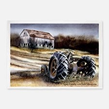 Old Tractor 5'x7'Area Rug