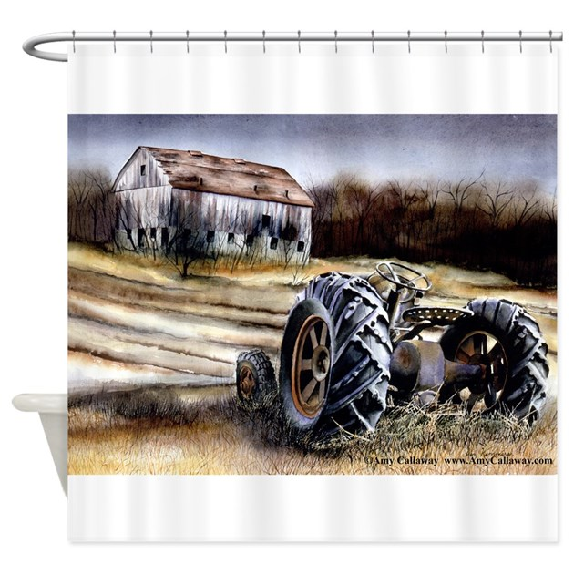 Tractor Shower Curtain : Old tractor shower curtain by amycallaway