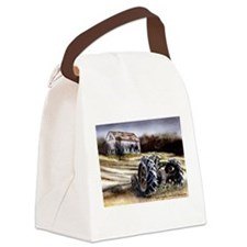 Old Tractor Canvas Lunch Bag