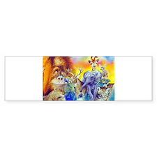 Animal Collage Bumper Sticker