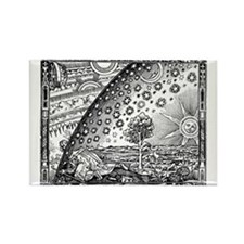 Flammarion Woodcut Rectangle Magnet / The Universe