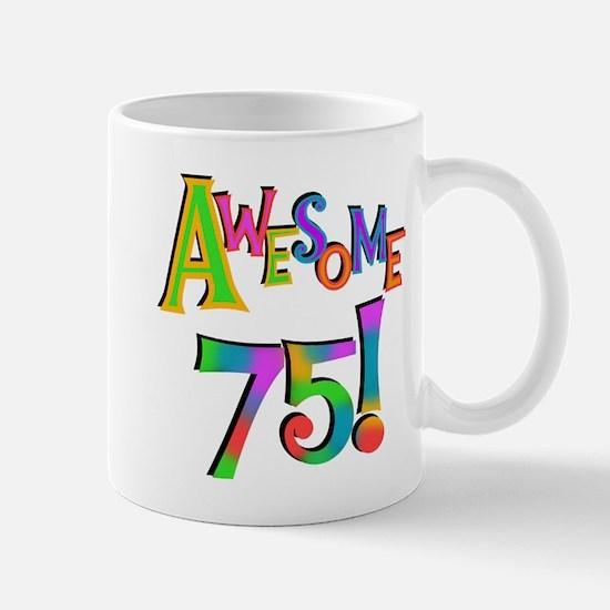 Awesome 75 Birthday Mug