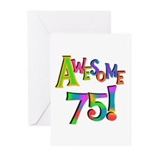 Awesome 75 Birthday Greeting Cards (Pk of 10)