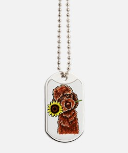 Sunny Chocolate Labrodoodle Dog Tags