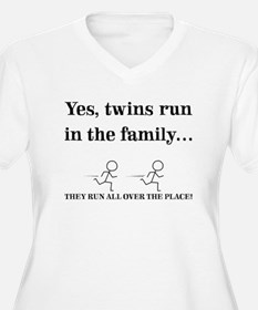 YES, TWINS RUN IN THE FAMILY Plus Size T-Shirt