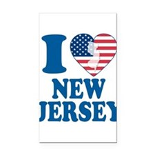 I love new jersey Rectangle Car Magnet