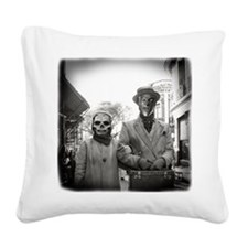 Black and White Freaky Vintage Couple Square Canva