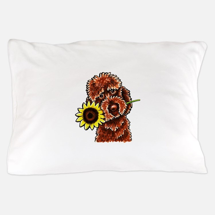 Sunny Chocolate Labrodoodle Pillow Case