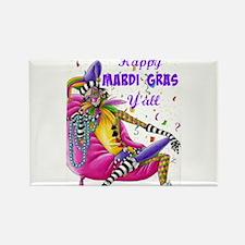 Happy Mardi Gras Y'all - Jester Magnets