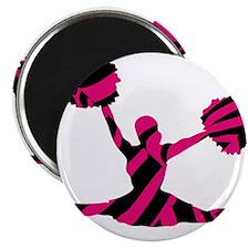 CHEERLEADER-3zebra2pnkBlk Magnets