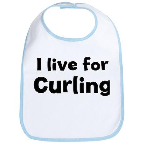 I Live for Curling Bib