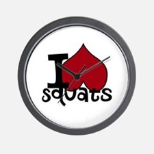 I <3 Squats Wall Clock