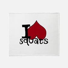 I <3 Squats Throw Blanket