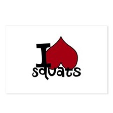 I <3 Squats Postcards (Package of 8)