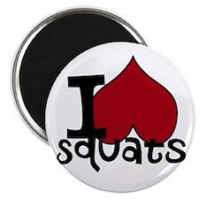 I <3 Squats Magnets