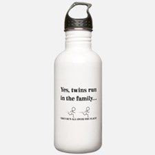 YES, TWINS RUN IN THE FAMILY Water Bottle