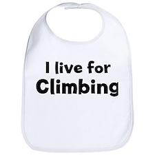 I Live for Climbing Bib