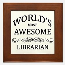 World's Most Awesome Librarian Framed Tile