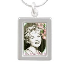 betty Silver Portrait Necklace