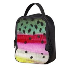 Rainbow Trout Skin Fishing Neoprene Lunch Bag