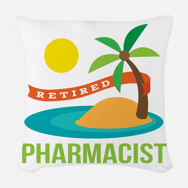 Retired Pharmacist Gift Woven Throw Pillow