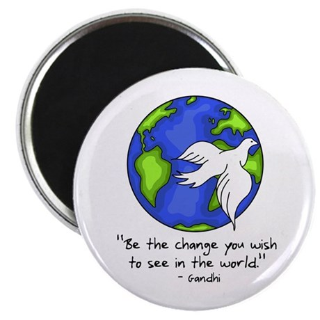 World Peace - Gandhi Be The Change Magnet
