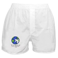 World Peace - Gandhi Be The Change Boxer Shorts