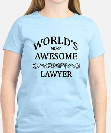 World's Most Awesome Lawyer Women's Light T-Shirt