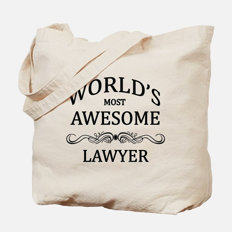 World's Most Awesome Lawyer Tote Bag