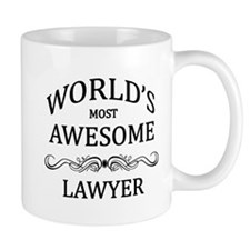 World's Most Awesome Lawyer Small Small Mug