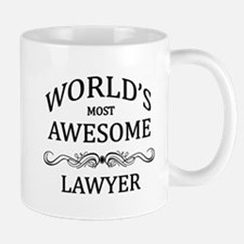 World's Most Awesome Lawyer Small Small Mug