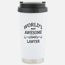 World's Most Awesome Lawyer Travel Mug