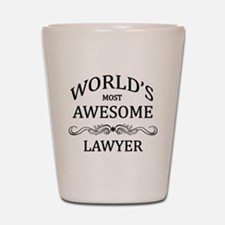 World's Most Awesome Lawyer Shot Glass