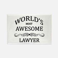 World's Most Awesome Lawyer Rectangle Magnet