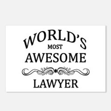 World's Most Awesome Lawyer Postcards (Package of