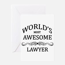World's Most Awesome Lawyer Greeting Card